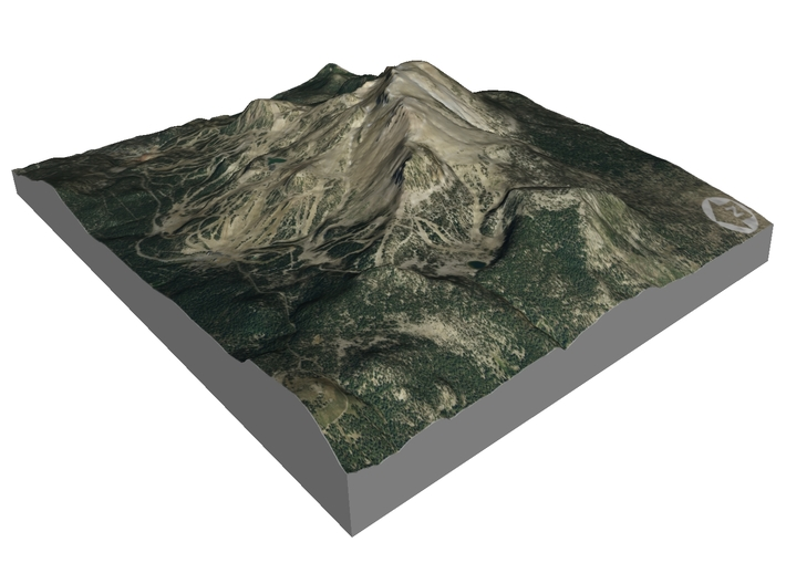 "Mammonth Mountain - Summer: 5""x7"" 3d printed"