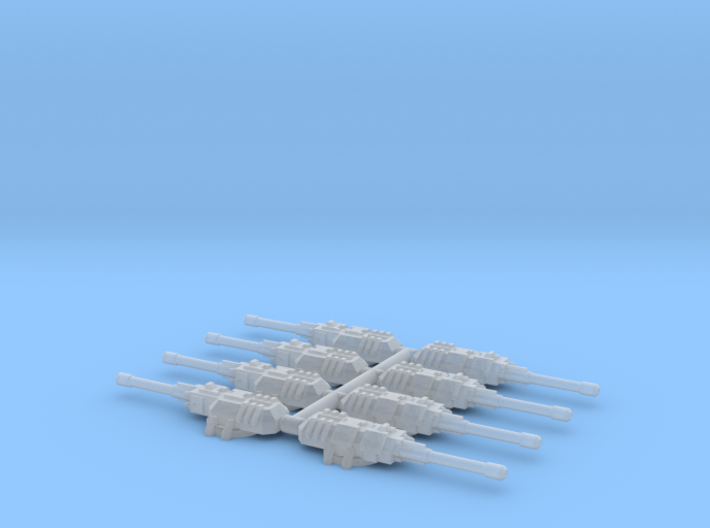 6mm Unmanned MBT Turrets (8) 3d printed