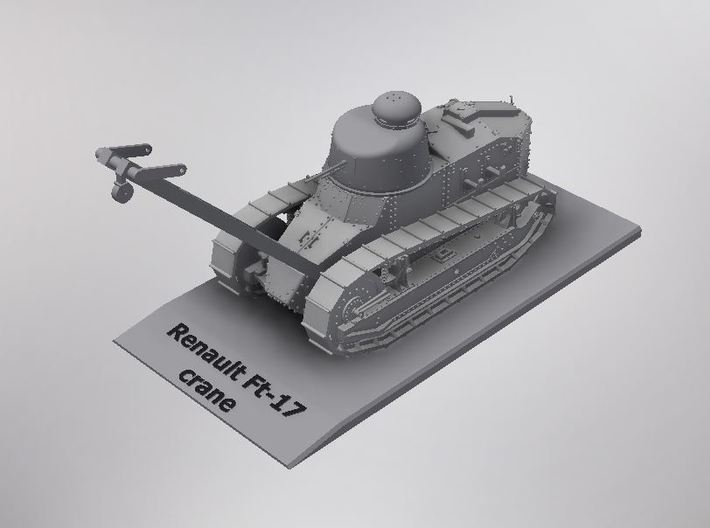 1/72nd scale Renault Ft-17 crane 3d printed