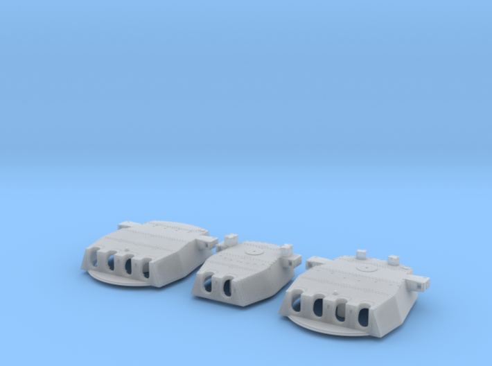 "1/350 HMS Duke of York 14"" Turrets 3d printed 1/350 HMS Duke of York 14"" Turrets (Pontos)"