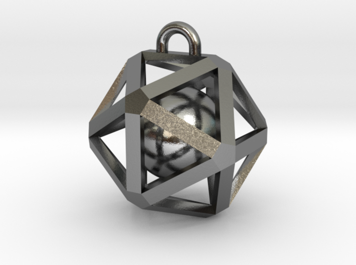 Caged Ball 3d printed