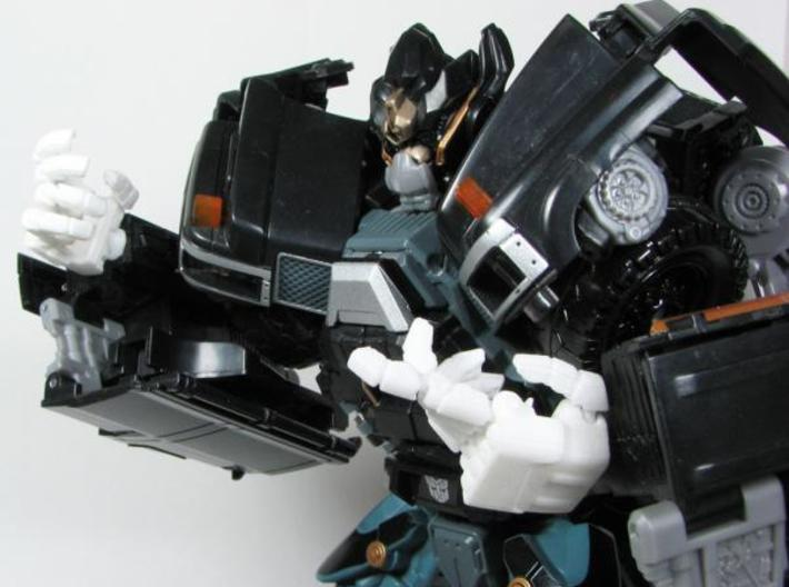 DOTM Leader Ironhide poseable hands 3d printed assembled.