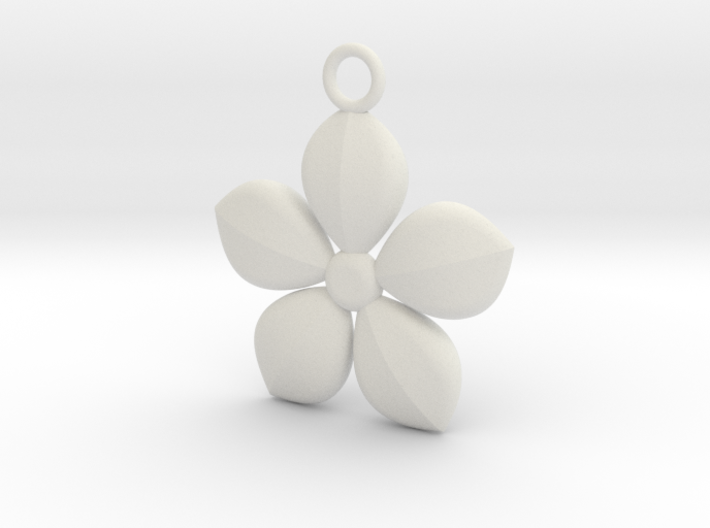 Plant necklace 3d printed