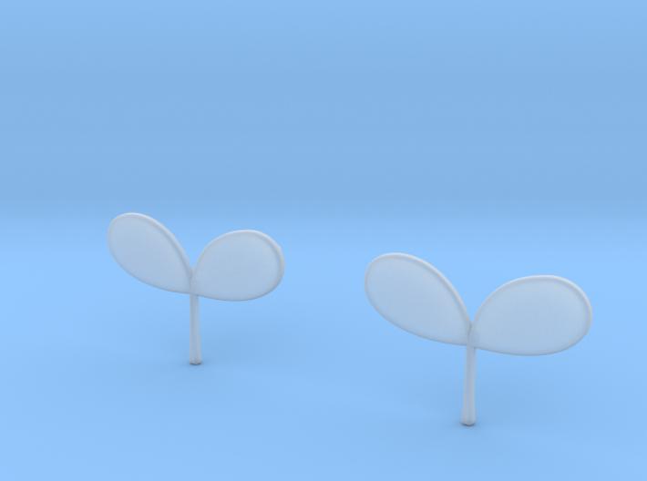 Plant Earrings 3d printed