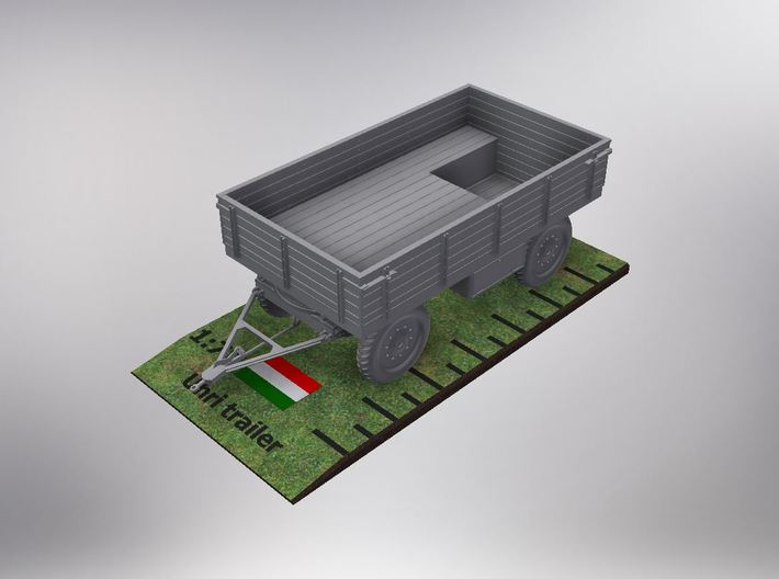 1/72nd scale Uhri trailer without canopy 3d printed