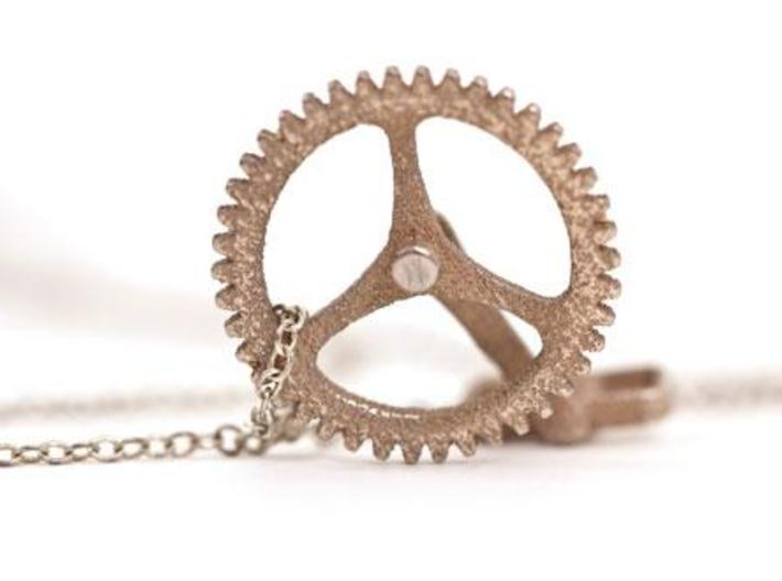 Cycling Necklace 3d printed