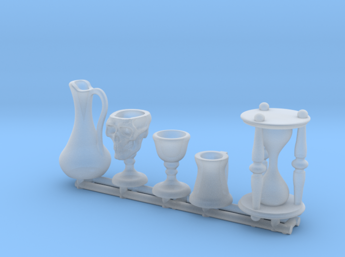 Drinkware: Skull Chalice and Hourglass -1:24 scale 3d printed