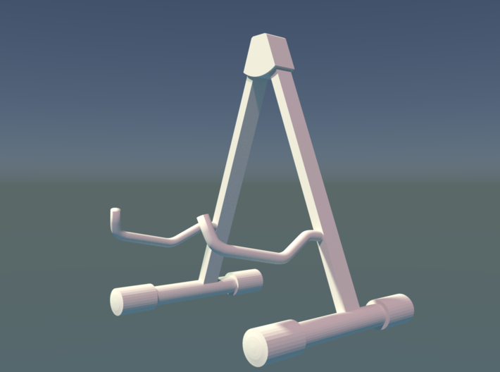 Guitar Stand_for ES 175, Scale 1:6 3d printed