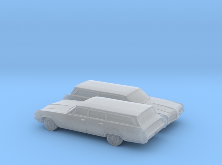1/160 2X 1964 Buick Wildcat Station Wagon 3d printed