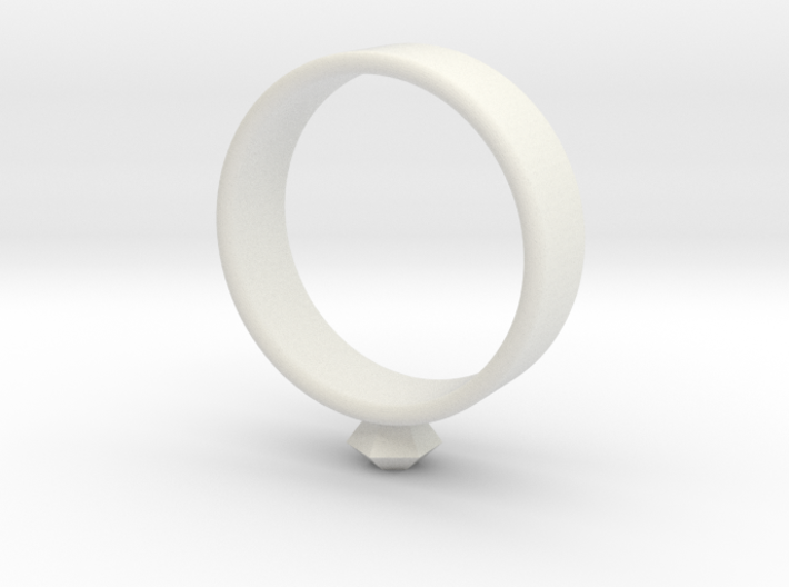 Small diamond ring 3d printed