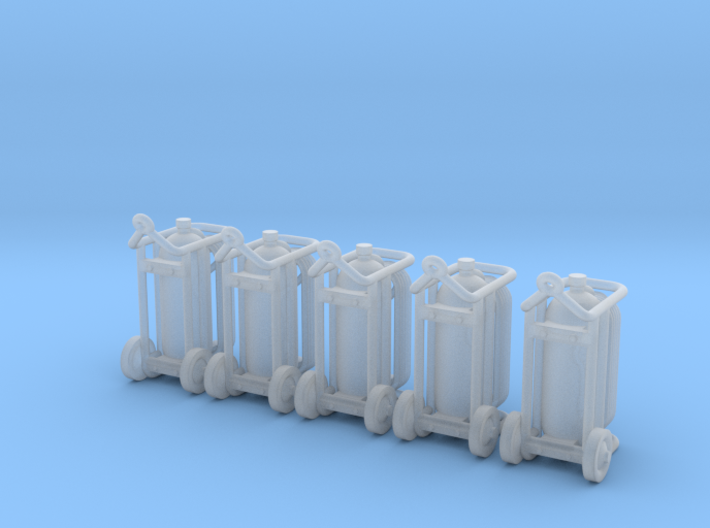 Wheeled Fire Extinguiser 02. HO scale (1:87) 3d printed