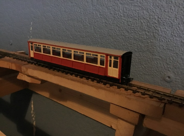 Ffestiniog Rly Superbarn all 3rd coach NO.119 3d printed The finished product