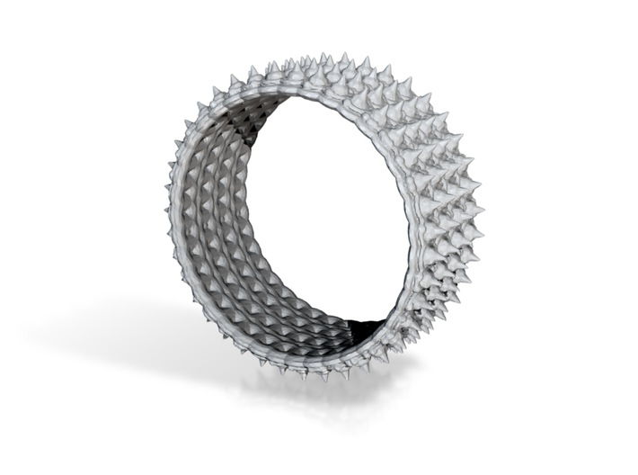 crazy spickes ring 3d printed