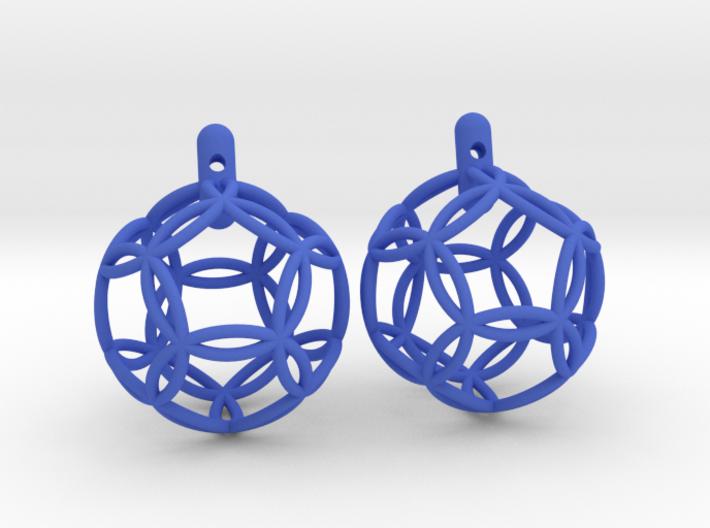earrings 12 circles 3d printed