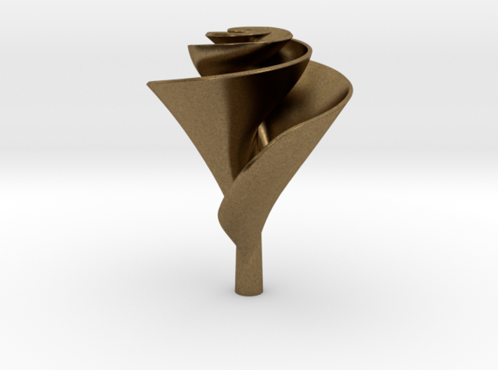Clockwise Lily Shape Impeller 3d printed