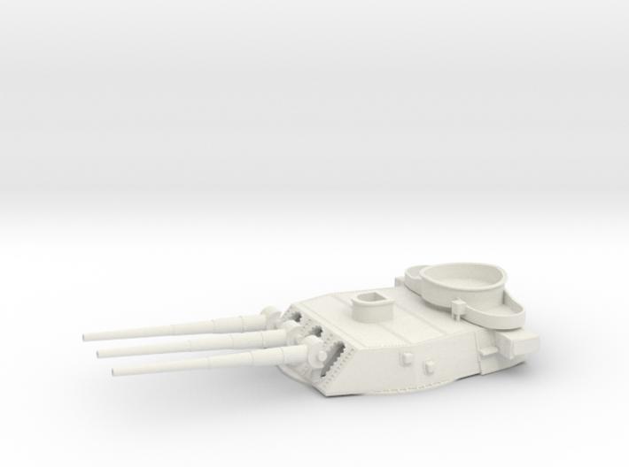 1/192 BB59 16 in (410 mm) 45 caliber Mark 6 gun 3 3d printed