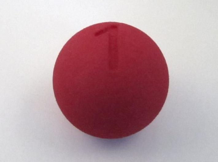 D1 Sphere Dice - one-sided dice 3d printed In Red Strong and Flexible