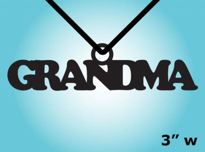 Grandma Necklace Charm 3d printed 2D Rendering