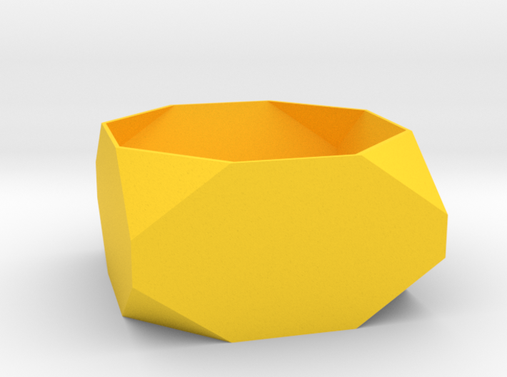 Stubby Faceted Box Planter 3d printed