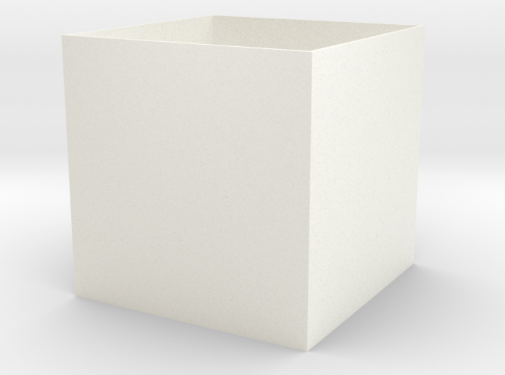 Simple Cube Planter 3d printed