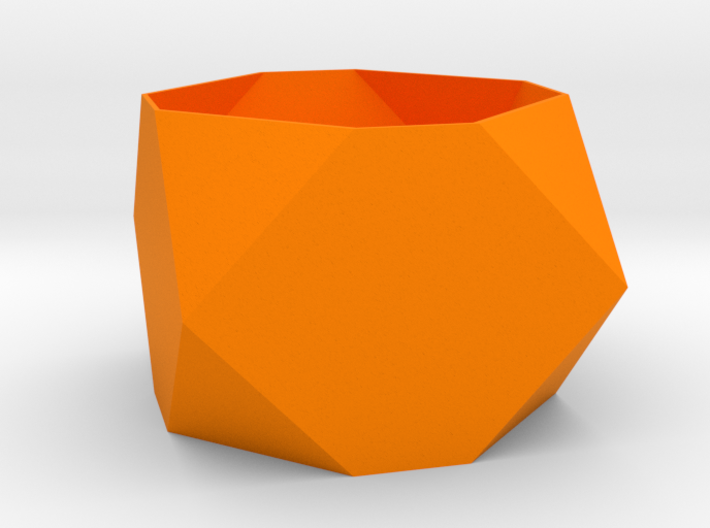 Faceted Box Planter 3d printed