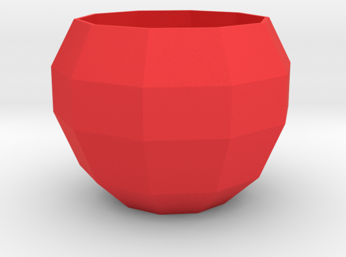 Faceted Apple Planter 3d printed