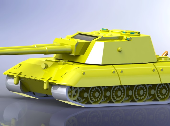 E-100 Flakpanzer AA_Tank 1/285 6mm 3d printed Add a caption...