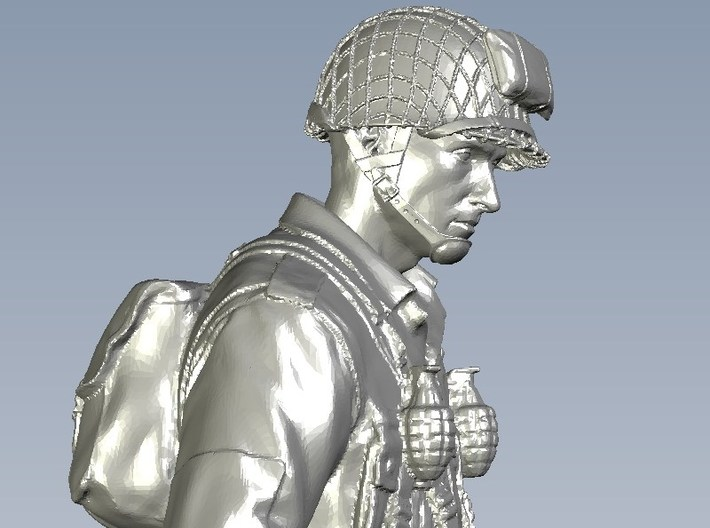 1/24 scale D-Day US Army 101 Airborne soldier 3d printed