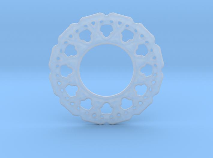 Experimental soft pendant or earrings 3d printed