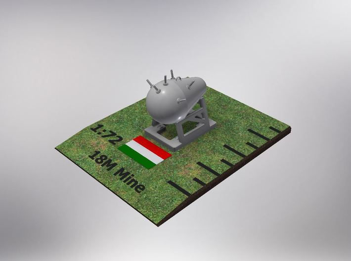 1/72nd (20 mm) scale Hungarian 18M Mine (4 pieces) 3d printed