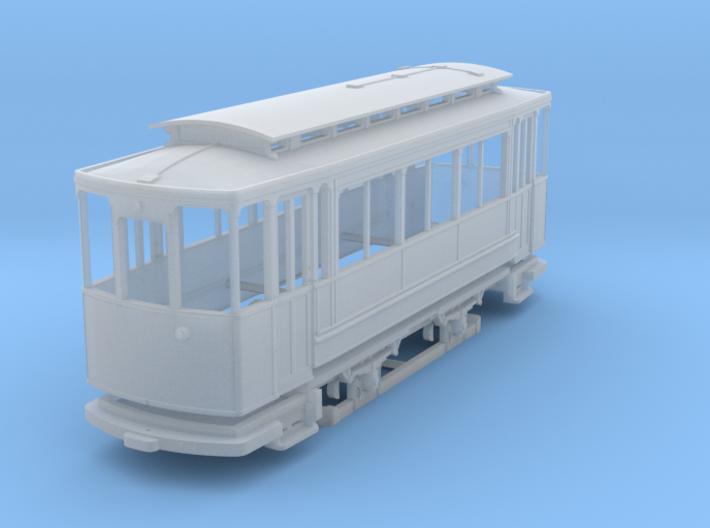 (H0m) - Herbrand-Beiwagen mit 3 Fenstern 3d printed