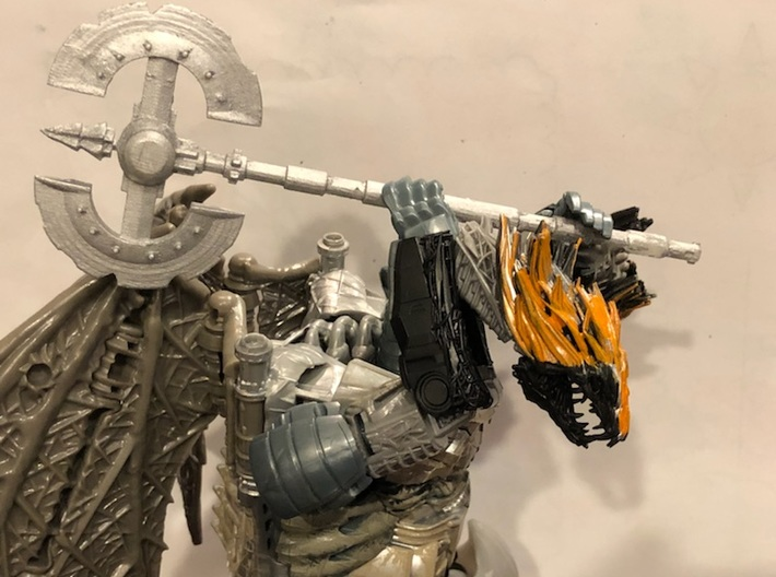 tf5 knights 2 Handed Axe 3d printed
