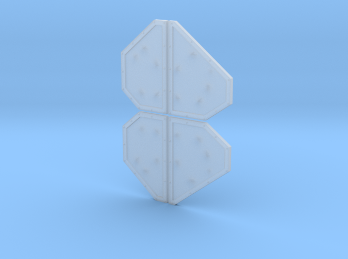 Armor Plates - Undecorated 3d printed