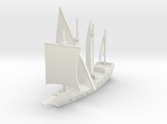 1/700 Caravela de Armada version 1 3d printed