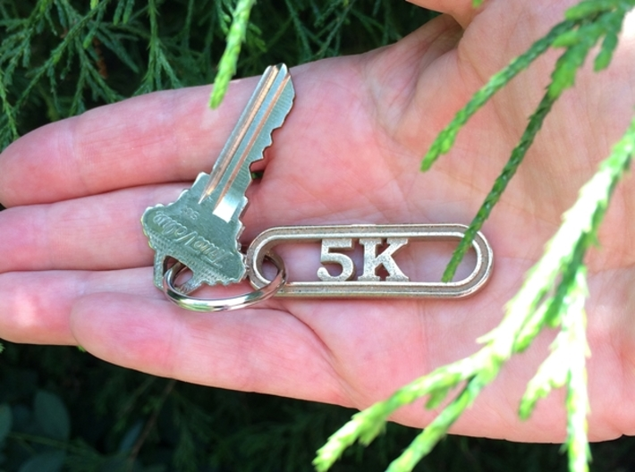 5K Keychain for Runners 3d printed Get outside and run!