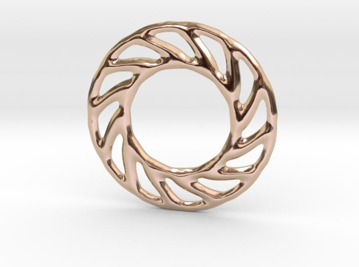 Soft spiral mandala shape for earrings or pendant 3d printed
