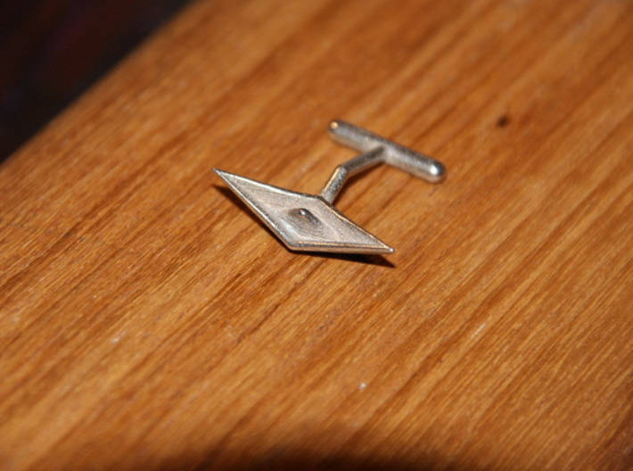 cuff links paper ship l 3d printed