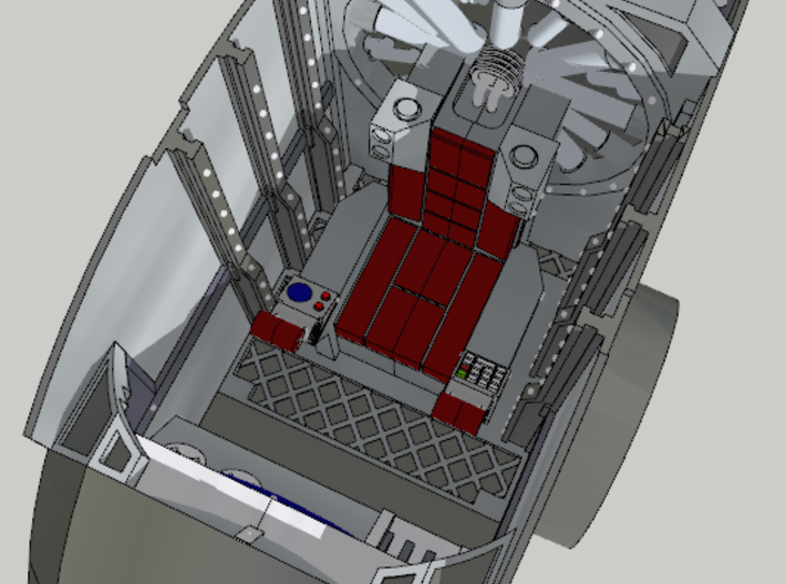 Pilot's Seat for Imperial Knight 3d printed As part of full cockpit assembly, console and walls not included