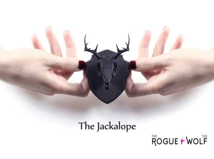 The Jackalope Mini Faux Taxidermy 3d printed