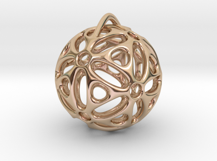 View of spherical games - part one. Pendant 3d printed