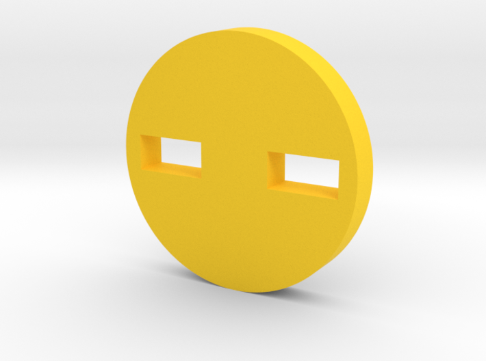 Shifty-Eyed Button 3d printed