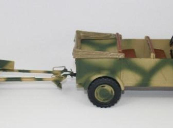 1:18 Pak 36 - 37mm German Anti-Tank Gun - v1 3d printed Painted and assembled in towed position.