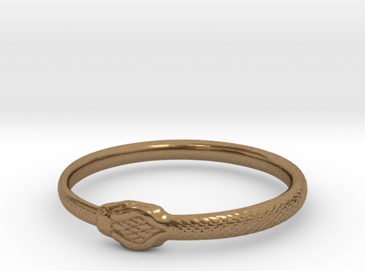 Ouroboros Bangle Medium (67mm inside diameter) 3d printed
