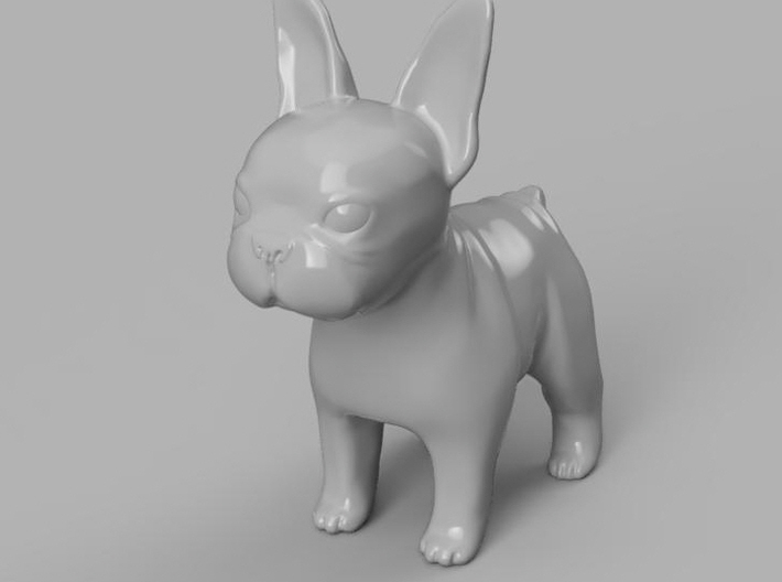 french bull dog 3d printed