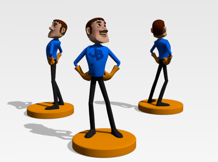 Johnny Blender 3 - JB3 - Full-Color Statue 3d printed Rendered in Blender 2.7