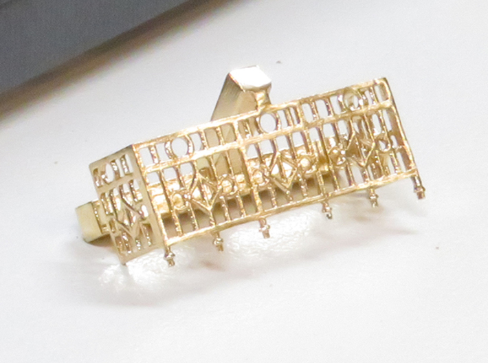 Salida parlor end rails 3d printed Rails shown in brass