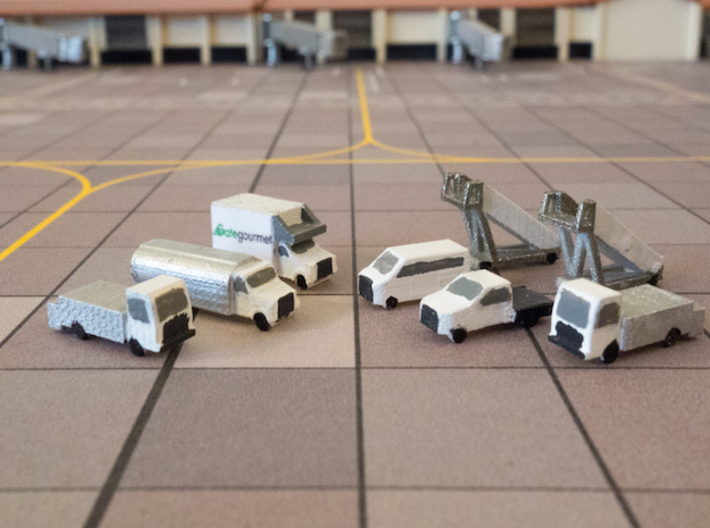 Add-on Ground Support Equipment - 1:500 Scale 3d printed