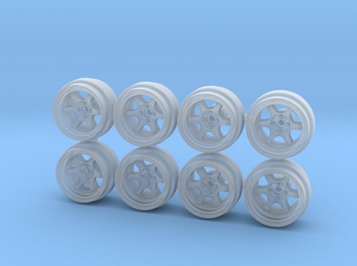 8.6mm TE37V Hot Wheels Rims 3d printed