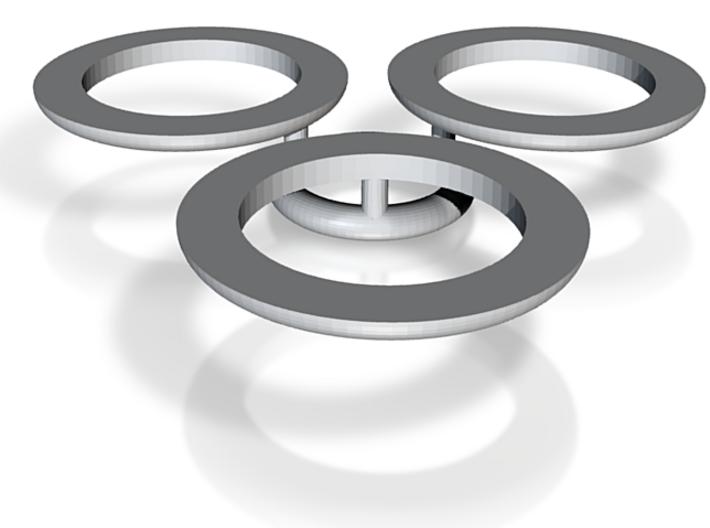 MTBO 3 Magnetic Clip Rings 3d printed MTBO Map holder