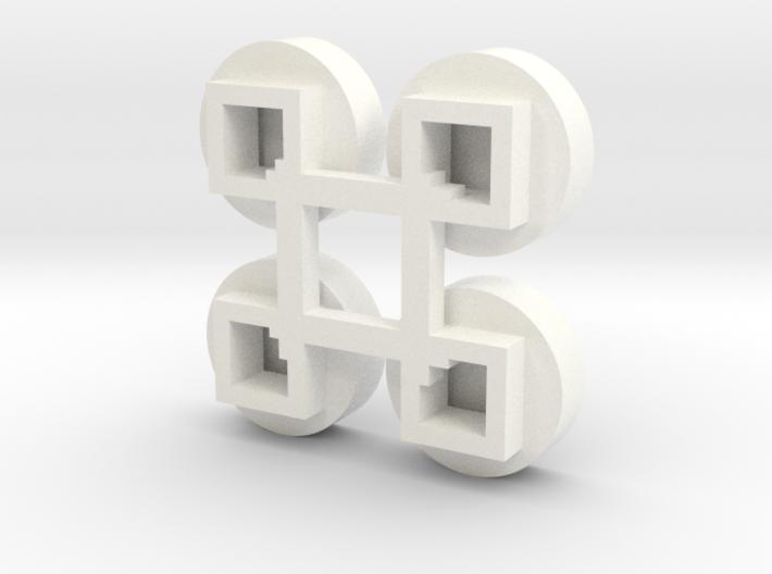 1/64 Circular Bin Roof Vent (4) 3d printed